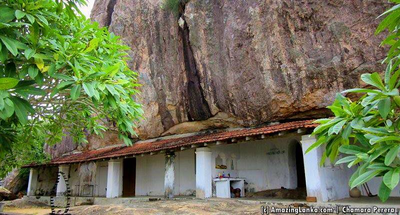 The main cave temple of Mullegama Mulgirigala Rajmaha Viharaya