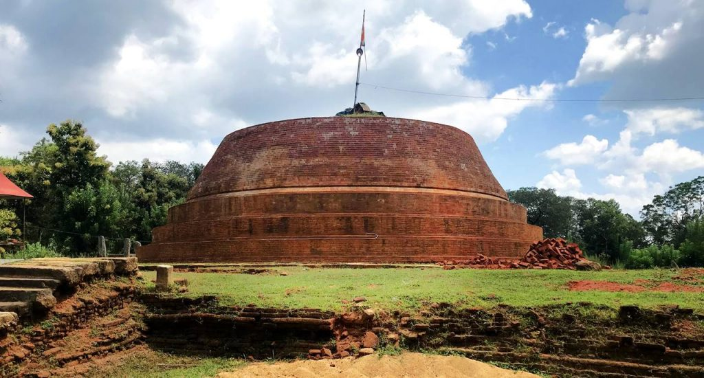 Ancient Muthumala Stupa after conservation at Hambegamuwa Purana Rajamaha Viharaya