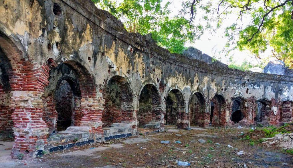 Ruins of the old Dutch Kachcheri Building in Jaffna