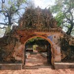 The elaborate pandol at the entrance to the Keeramale Sirappar Madam (Ambalama) in Jaffna