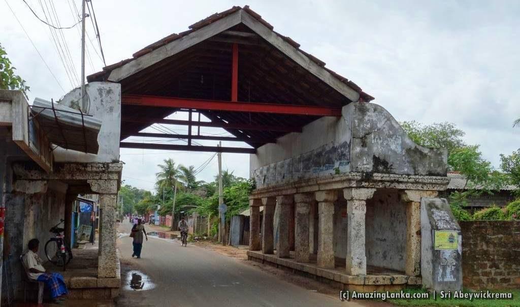 Point Pedro Theru Moodi Madam (Ambalama) in Jaffna