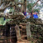 Ruins scattered around the ancient Bodhi tree of Yatimadura Jethawanarama Rajamaha Viharaya