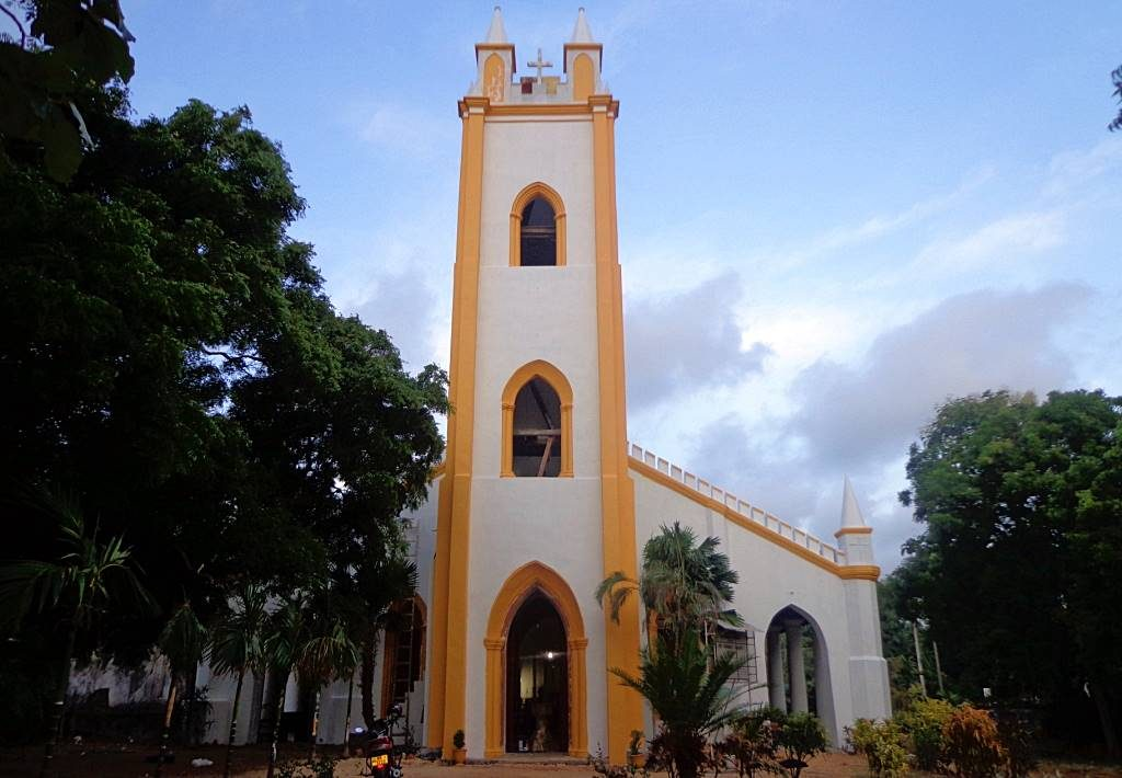 St James church in Nallur built by the Anglicans in 1828