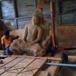 Kandegedara Purana Tampita Viharaya main statue before restoration