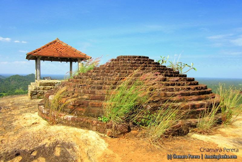 Restored Stupa at the top of Tissawa Rock