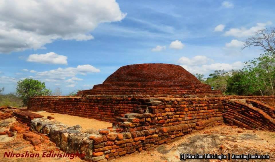 Conserved stupa at the Horowpathana Kulumeemaakada Archaeological SiteConserved stupa at the Horowpathana Kulumeemaakada Archaeological Site
