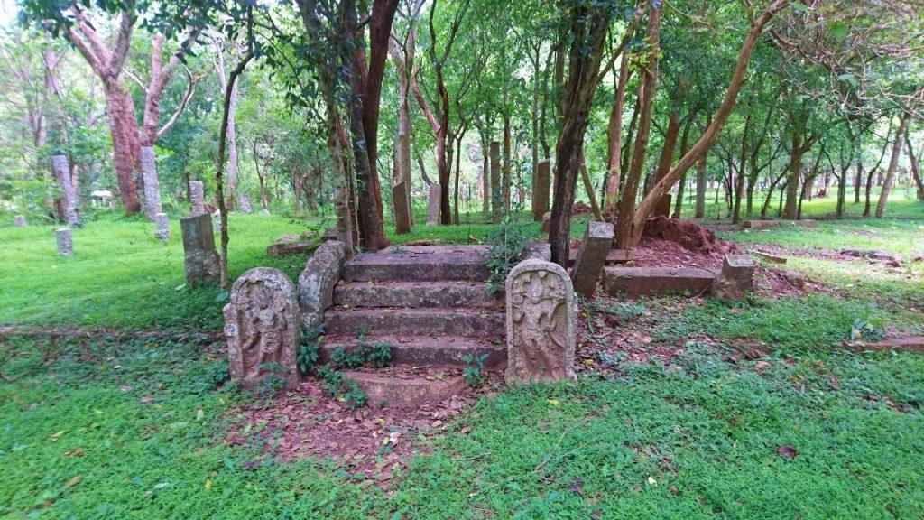 Ruins of Kaparamula Pirivena in Abhayagiri Monastery