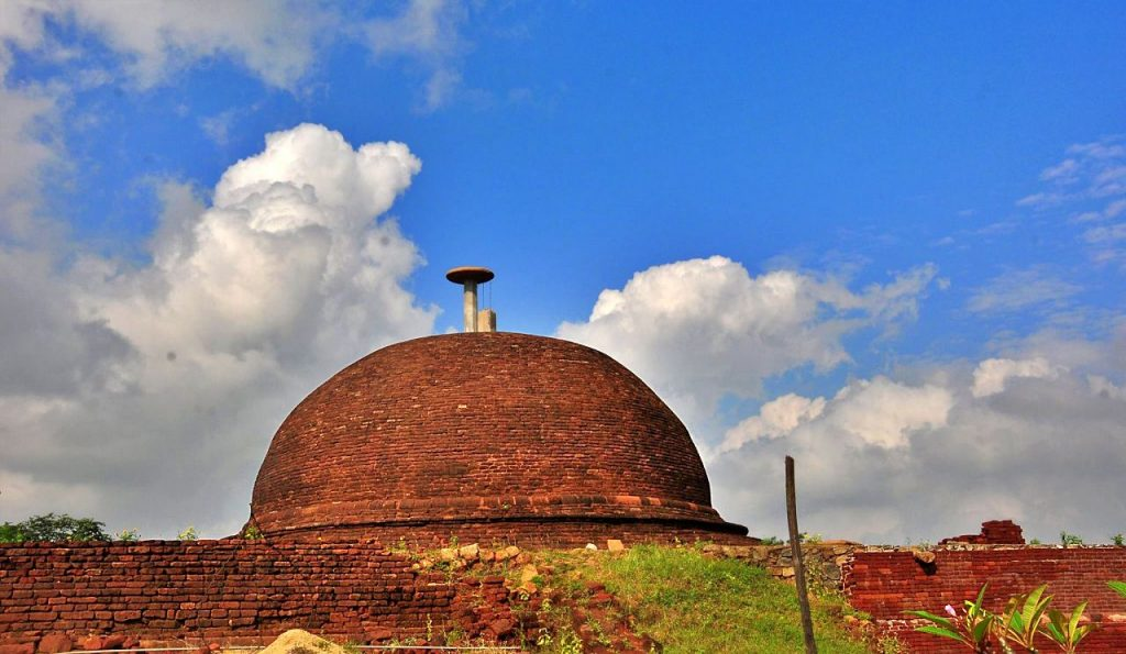 Stupa in its original form after restoration at the Thammennakanda Purana Viharaya and Archaeological Site
