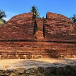 The stupa discovered in 2012 and restored by the department of achaeology at the Wattarama Sri Arahantha Maliyadeva Rajamaha Viharaya
