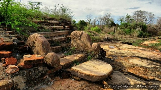 Archaeological Ruins at the Sembumale in the Kuchchaveli Jungles