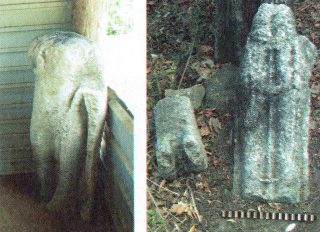 ඔඩ්ඩුසුඩාන් කෙරිඩමඩු පුරාවිද්යා ස්ථානයේ සිටි බුද්ධ ප්රතිමාවේ සහ අවලෝකිතේෂ්වර  ප්රතිමාවේ කවන්ධය - Keridamadu Archaeological Site in Mulativu