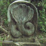 මුලතිව් තන්නිමුරුප්පුකුලම වැව පුරාණ සොරොව්ව අසල පෙණ 5ක් සහිත ශිලාමය නාග රුව මෑත යුගයේදී සිමෙන්තියෙන් පිළිසකර කර නැවැත සිටුවා ඇත - Mulativu Tannimuruppukulama Wewa Archaeological Ruins